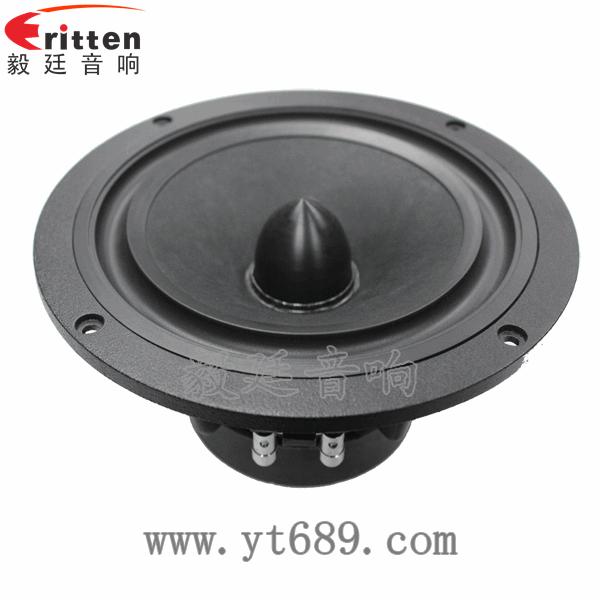 6寸60w中低音汽车音响喇叭  采用的是高密度铸铝盆架,共震点超低,外观
